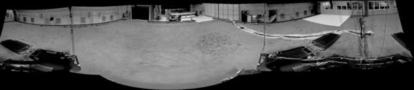 Panorama které GTM vytvořil při jedné ze svých prvních jízd