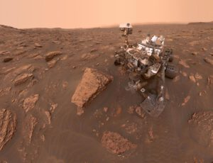 15. června 2018 pořídil rover Curiosity v lokalitě na sever od Vera Rubin Ridge mnoho fotek, ze kterých vznikl tento jeho autoportrét.