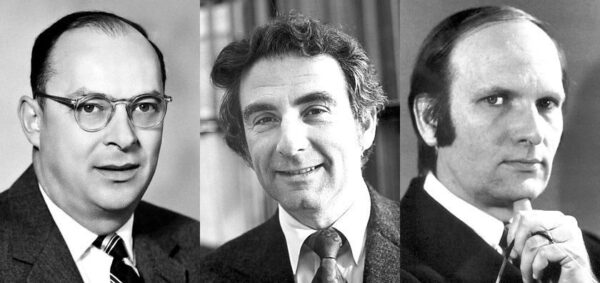 Autoři BCS teorie, zleva J. Bardeen, L. Cooper a J. Schrieffer