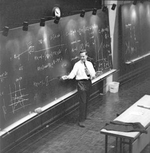 Richard Feynman vyučuje