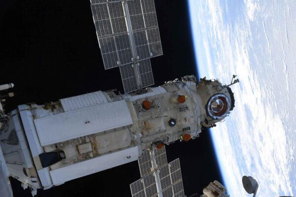 Modul Nauka po připojení k ISS.