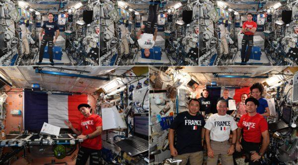 Během šestiměsíční mise mají astronauti obecně nárok na 3 nebo 4 dny dovolené. Vzhledem k tomu, že 4. červenec (americký státní svátek, pokud nevíte) připadl na neděli, nejlepší volbou byl samozřejmě července čtrnáctý 😌 (francouzský svátek). Netřeba dodávat, že jsem se pokusil tuto událost patřičně připomenout – francouzskou večeří, vlajkami a samozřejmě snímky několika Francouzů z USA 😊. Zdroj: flickr.com
