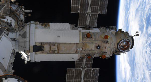 Detailní pohled na laboratorní modul MLM-U Nauka. Zdroj: flickr.com