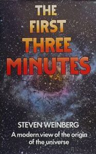 Obálka anglického vydání knihy První tři minuty