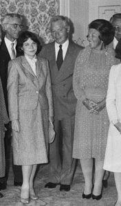 Steven a Louise Weinbergovi s královnou Beatrix.