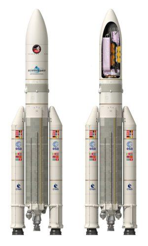 Ariane 5 s dalekohledeme Jamese Webba