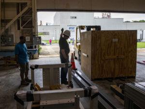 Nafukovací konstrukce zařízení LFTID nedávno dorazil na Langleyho středisko. Tady bude integrována s dalšími částmi a projde environmentálními testy před startem v příštím roce.