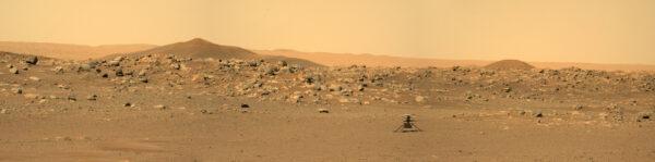 Ingenuity zachycená během solu 114. Zdroj: NASA/JPL-Caltech
