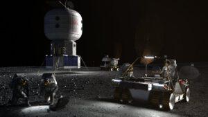 Vize základny Artemis Base Camp u jižního pólu Měsíce