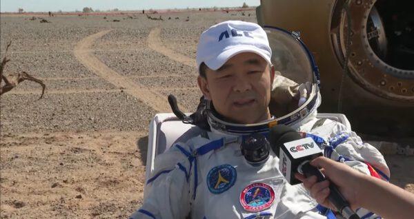 Liou Po-ming po přistání.