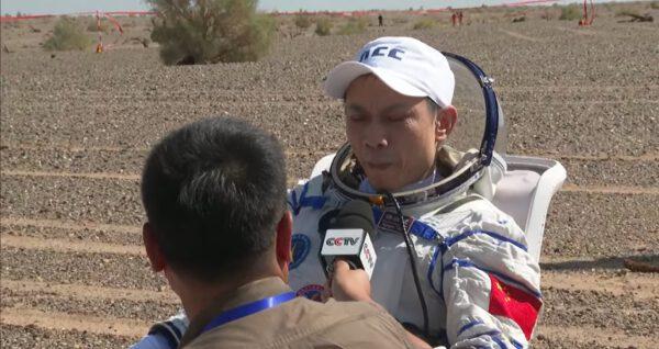 Tchang Chung-po po přistání.