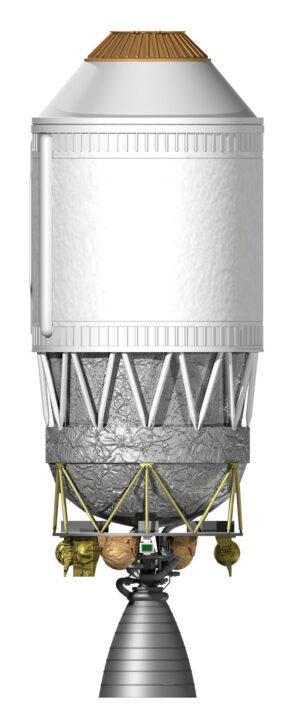 Horní stupeň rakety H-IIA, cíl družice ADRAS-J.