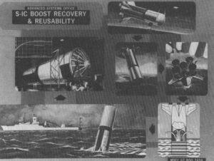 Existoval nespočet plánů, kterak z obřího Saturnu V zachránit alespoň první stupeň