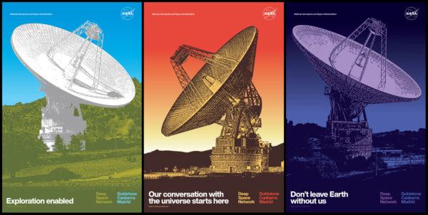 NASA vytvořila na počest DSN i plakáty s uměleckým nádechem.