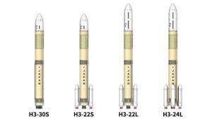 Varianty rakety H3.