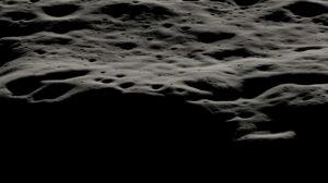 Vizualizace hornatého terénu západně od kráteru Nobile, který je posetý menšími krátery. V oblasti najdeme trvale zastíněná místa, ale i lokality, které jsou téměř neustále osvětlené. Okolí kráteru Nobile je pro VIPER nejvhodnější z hlediska navigace, komunikace i vědeckého výzkumu.