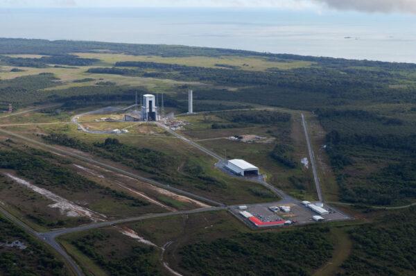 Startovní komplex pro rakety Ariane 6.
