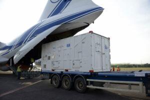 Transportní kontejner pro družice Galileo.