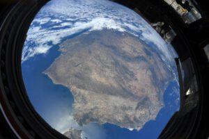 Pyrenejský poloostrov. Foto Thomase Pesqueta z ISS. Zdroj: flickr.com