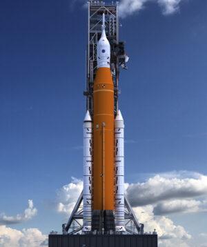 Umělecký koncept sestavy pro misi Artemis I