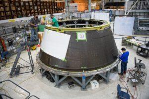 Adaptér Spacecraft Adapter pro Artemis II v továrně Michoud, květen 2020